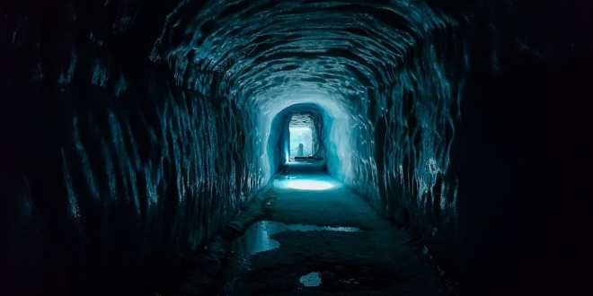 Ice Cave Tunnel