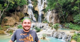 Selfie at Kuang Si Waterfalls