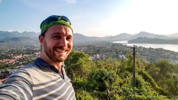 Selfie on Mount Phousi in Luang Prabang