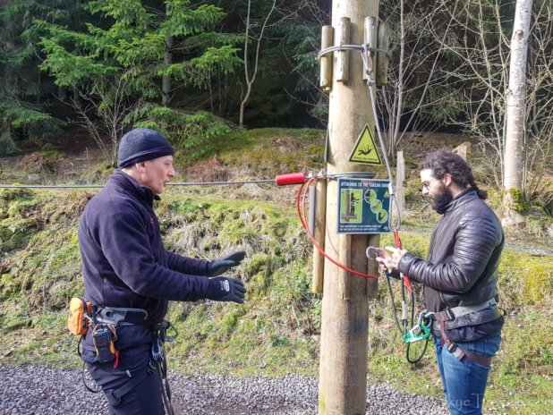 Indoctrination at Go Ape Peebles