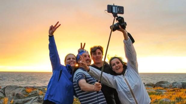 Selfie with Group on Utklippan