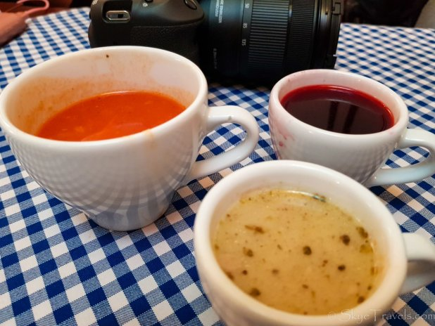 Soup Selection on Food Tour in Krakow
