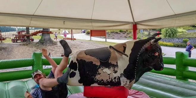 Selfie on the Mechanical Bull at Heipark