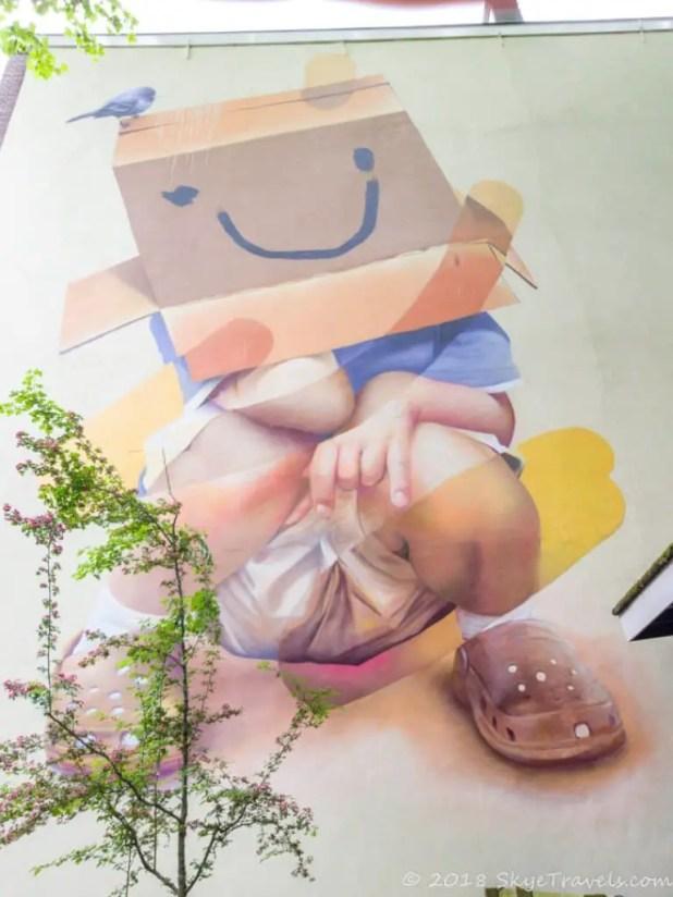 Boy in a Box Street Art in Rotterdam