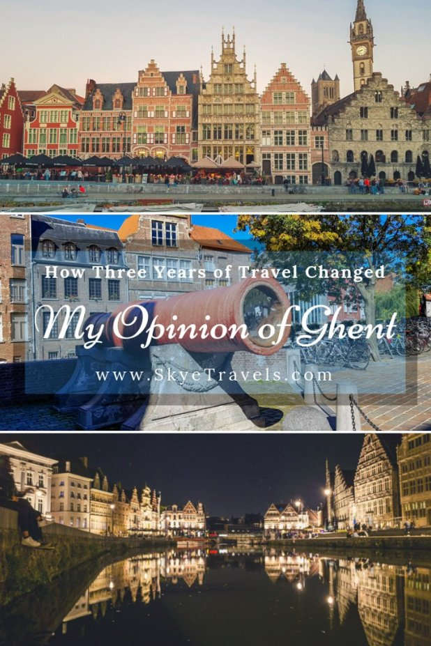 Ghent was one of the first cities I visited in my travels. Dozens of countries and hundreds of cities later, I went back to see if it was as magical as I remembered. Here's how my opinion of Ghent changed over the years. #Ghent #VisitGhent #Belgium #GhentAltarpiece #HistoricTowns #FairytaleTowns