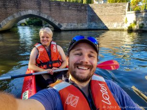Selfie Kayaking in Ghent