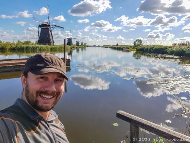 Selfie in Kinderdijk