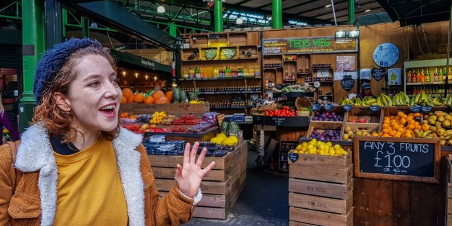 Ella Delivering the London Food Tour