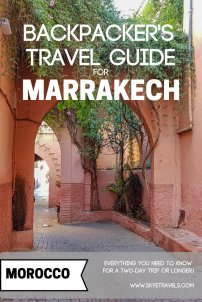Backpacker's Travel Guide for Marrakech Pin