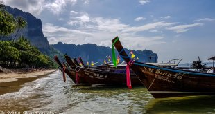 Krabi Beach with Boats