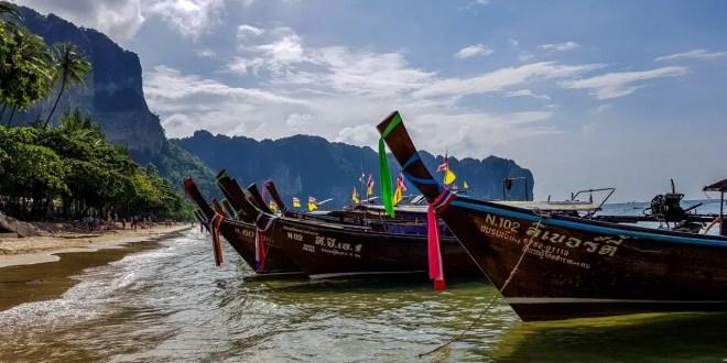 Krabi Beach with Boats