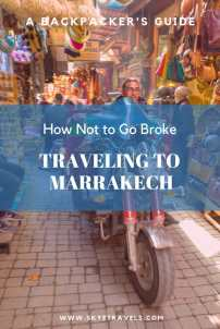Traveling to Marrakech Pin