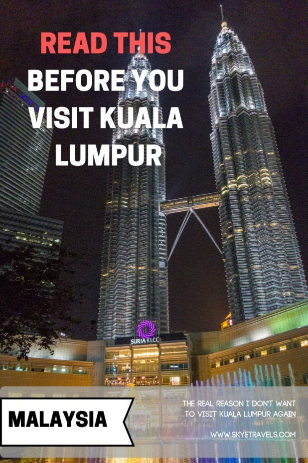 Don't Visit Kuala Lumpur Pin