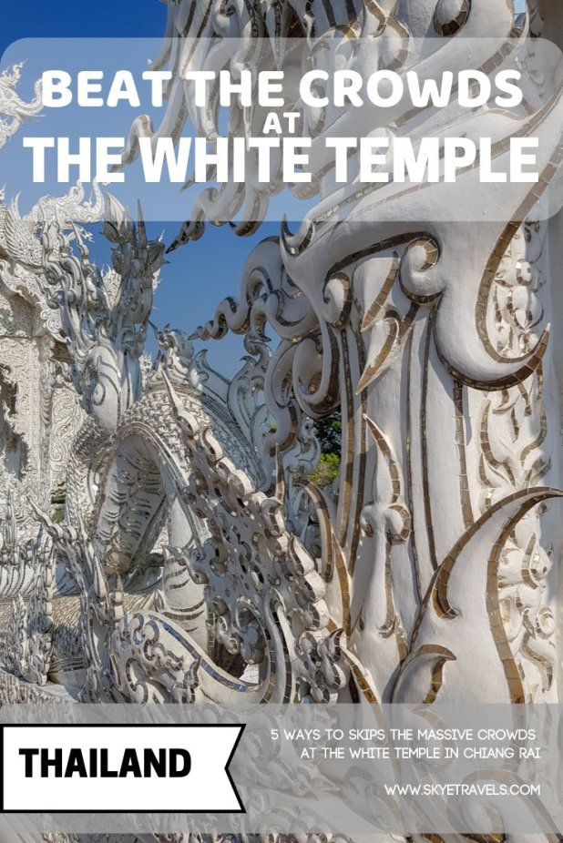 Wat Rong Khun, also known as the White Temple in Chiang Rai, is the city\'s most popular attraction and one of the most beautiful temples in the world. #WatRongKrun #ChiangRai #Thailand #Temples #ModernArt #WhiteTemple