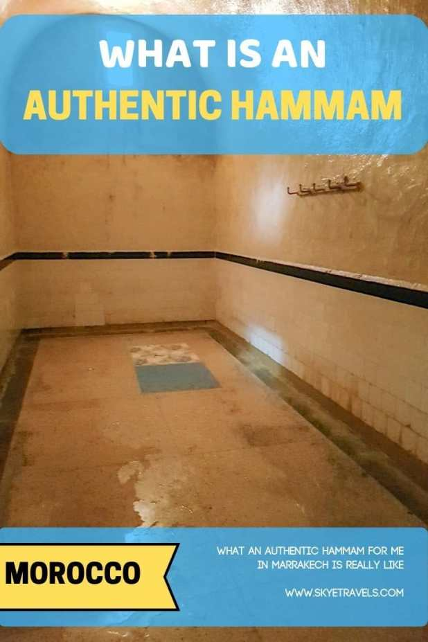 Authentic Hammam For Men in Marrakech Pin