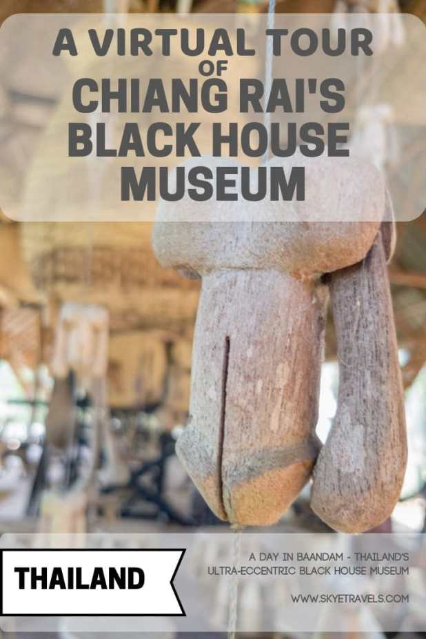 Most people head to Chiang Rai to see the White Temple or perhaps the Blue Temple, but I think the Black House Museum is the best attraction there. #Bandaam #Blackhouse #BlackHouseMuseum #ChiangRai #Thailand