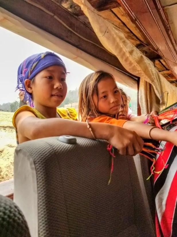 Kids Selling Bracelets to the Slow Boat in Laos