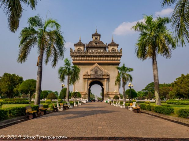 South End of Patuxai Arch