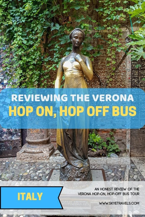 Verona is my favorite city in Italy, but it can seem overwhelming to explore. The Verona Hop-On, Hop-Off Bus Tour is a great way to get started. #VisitVerona #EnjoyVerona @VeronaTouristOffice #Isango @Isango