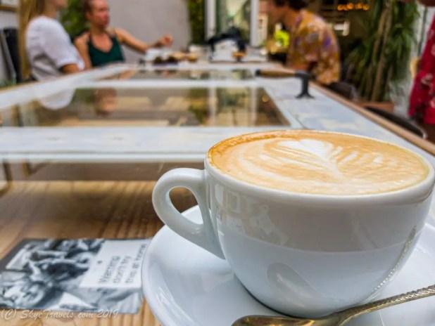 Breakfast Cappuccino at Hello I'm Local Hostel