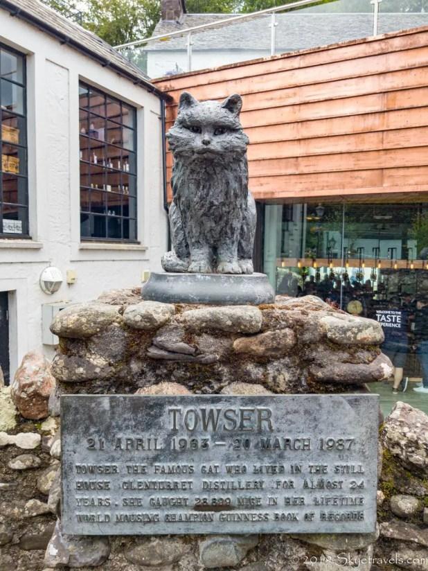 Towser Statue at the Glenturret Distillery