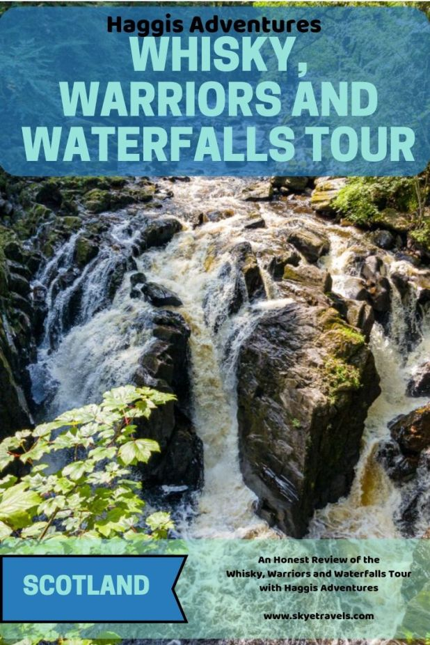 What do whisky, warriors and waterfalls have in common? They\'re all in Scotland, and you can see them with a Haggis Adventures tour! #HaggisAdventures #GlenturretDistillery #HermitageWalk #WallaceMonument #VisitScotland #Scotland #Nature #History #BusTour #Stirling #HaggisTours