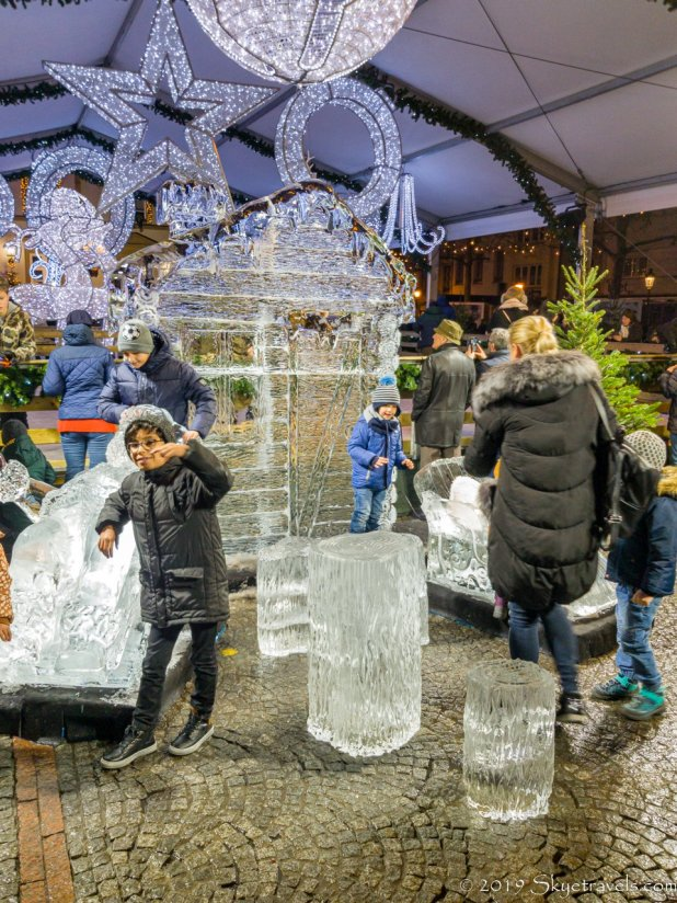 Luxembourg Christmas Market Ice Sculptures