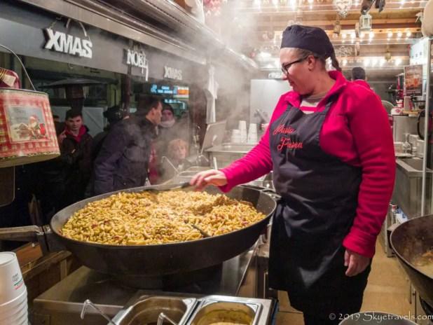 Spätzle at Luxembourg Christmas Market