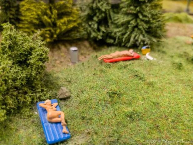 Nude Sunbathers in Miniatur Wunderland