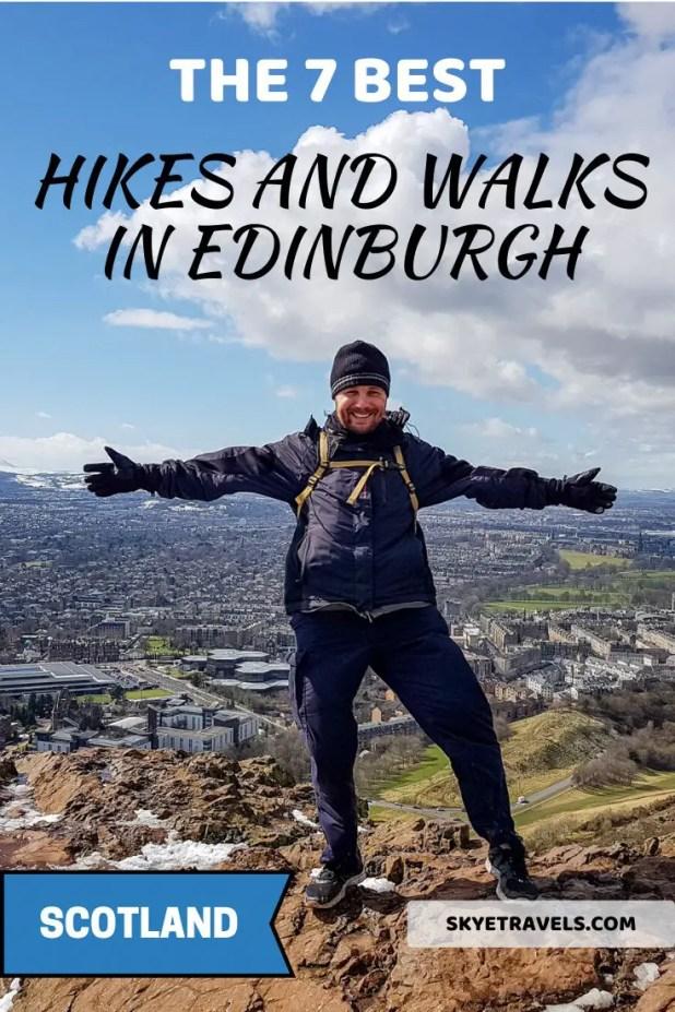Best Hikes and Walks in Edinburgh Pin