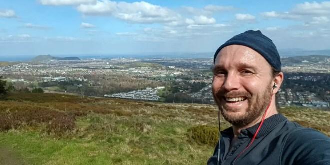 Selfie on the Pentlands (Best Hikes and Walks in Edinburgh Cover)