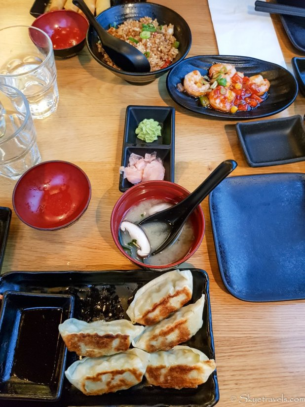 Spread at Sumo Sushi