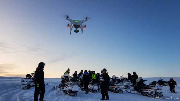 Drones On Snowmobile Tour