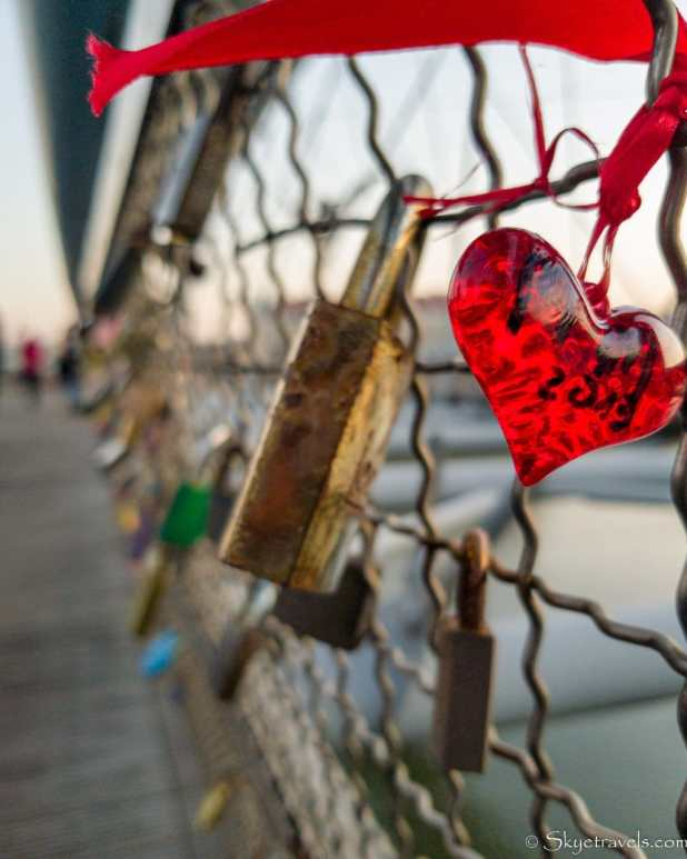 Krakow Love Locks on Bridge
