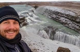 Selfie at Gullfoss Falls