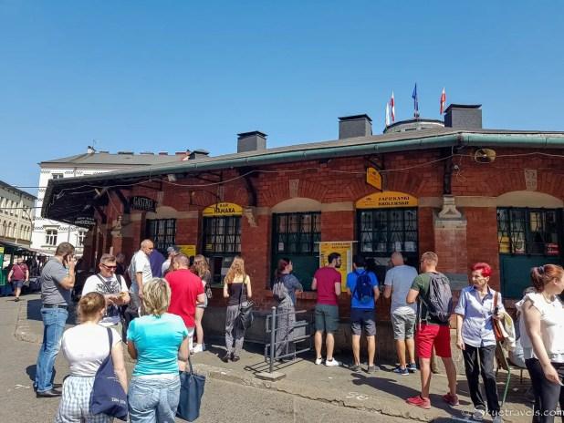 Zapiekanka Stands in Krakow