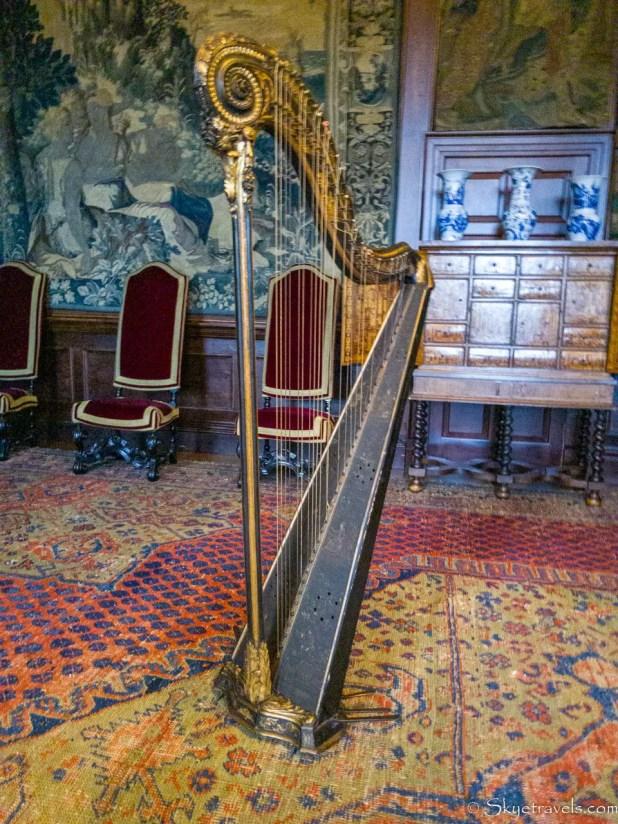 Holyrood Palace King's Ante-Chamber Harp