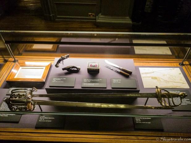 Holyrood Palace Lobby Artifacts