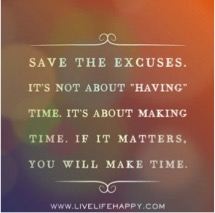 Making time is easier said than done…Challenge accepted