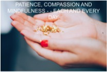 Practice Patience, Compassion and Mindfulness…Each and every day