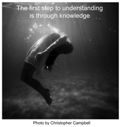 The first step to understanding is through knowledge