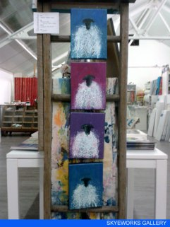 Sheep Paintings by Marion Boddy-Evans at Skyeworks Gallery