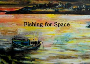 Fishing for Space paintings by Natalie Mcleod