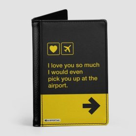 Valentines Day Passport Cover Gift for Pilot