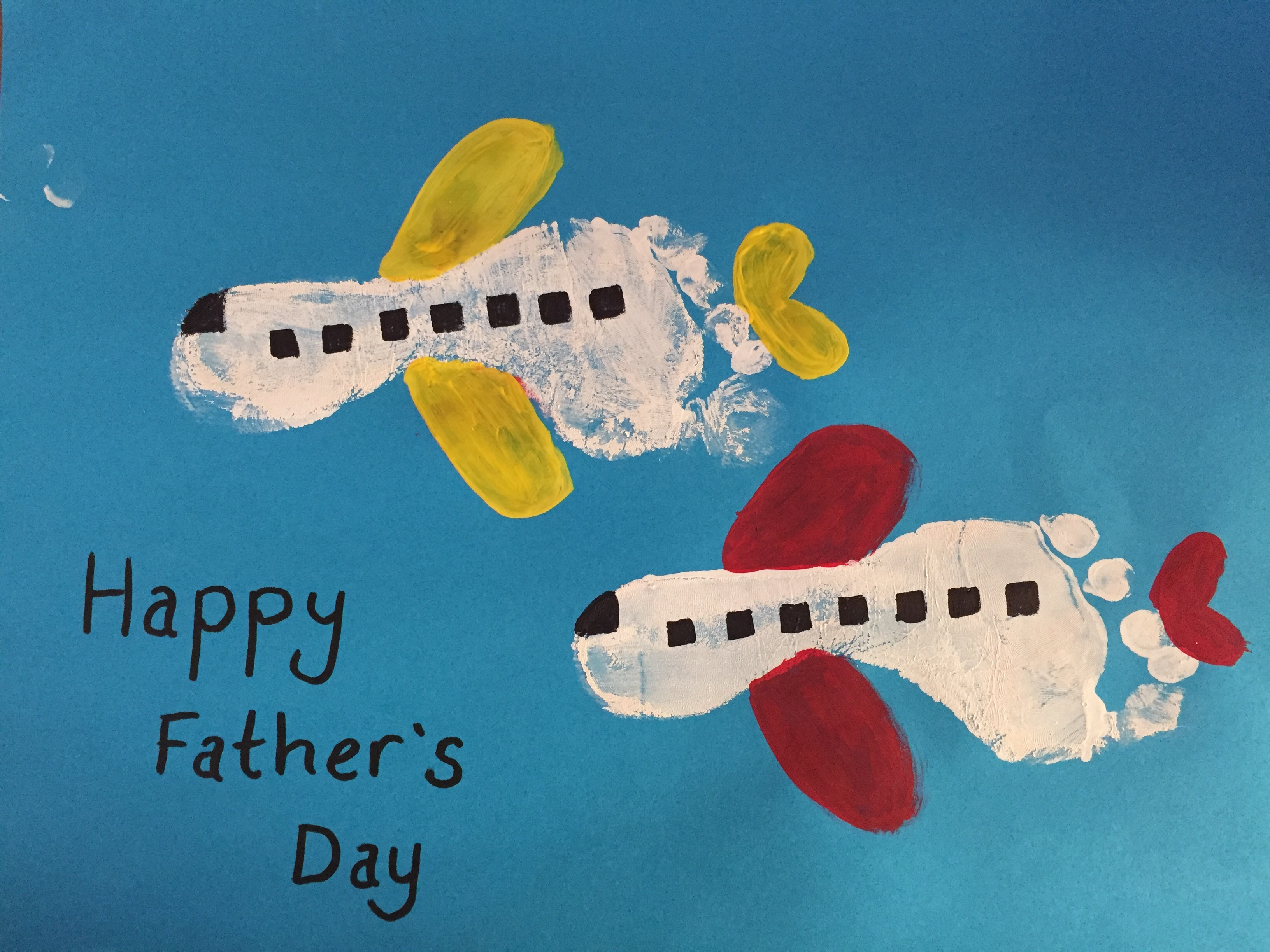Cute Fathers Day Airplane Craft Idea