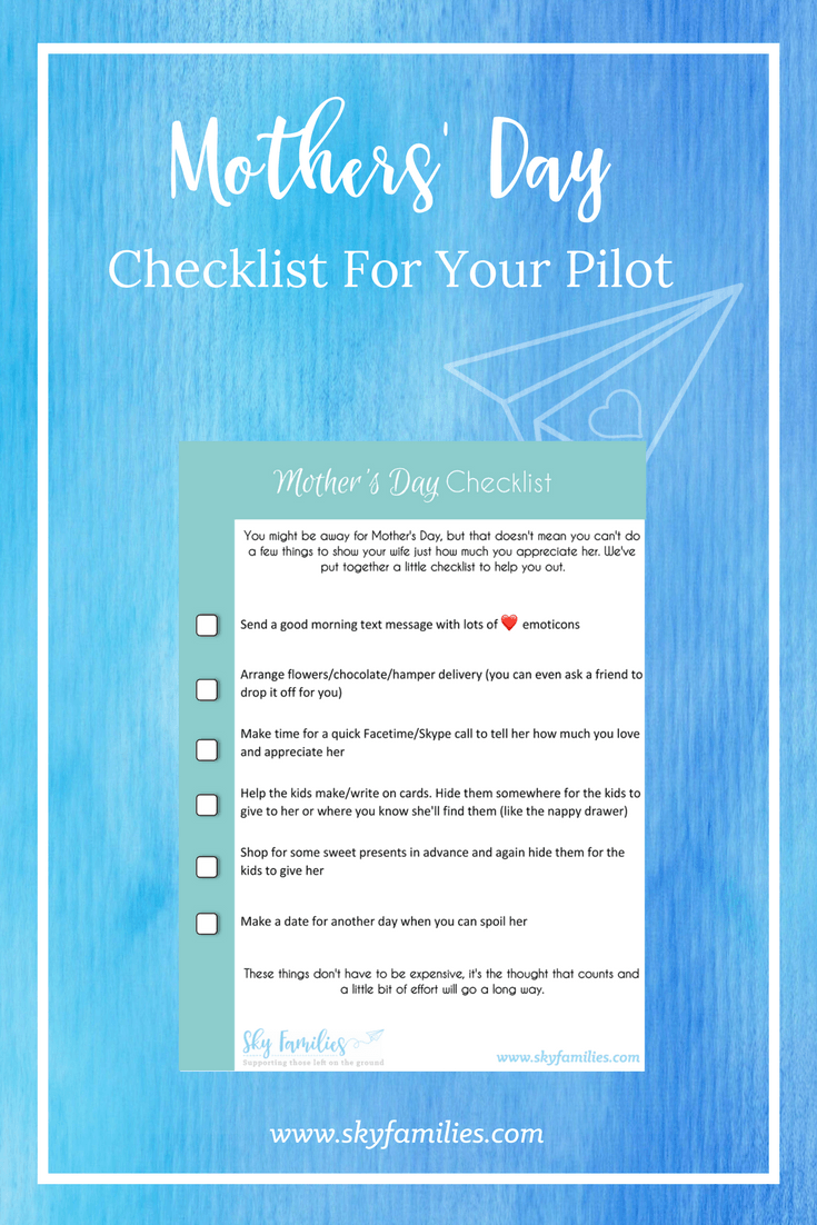 Pilot Wife Mothers Day Printable