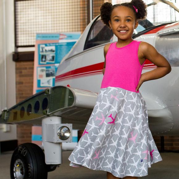 Airplane Twirly Dress Princess Awesome
