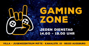 Augsburg: Gaming Zone @ Jugendzentrum Villa @ Jugendzentrum villa - Stadtjugendring Augsburg | Augsburg | Bayern | Deutschland
