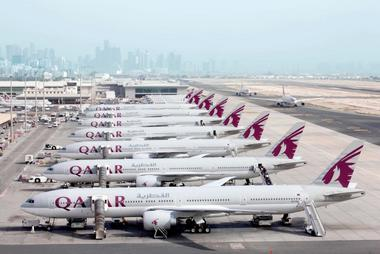 7x Boeing 777 by Qatar Airways in Doha