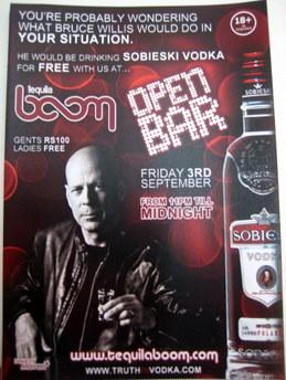 Wódka Sobieski i Bruce Willis w Victorii, na Seszelach